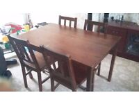 Dark Oak Dining Table