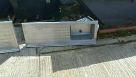 Used stainless steel sinks and sluice/ slop hopper