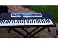 Yamaha YPT-210 Keyboard with sustain pedal and stand