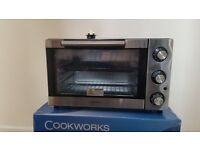 Cookworks stainless steel mini oven / grill - (P/O 349646)