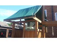 Wooden climbing frame / playhouse