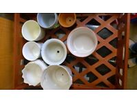 Job lot 19 plant pot holders decorative vintage and modern