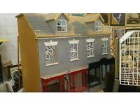 Dolls House - vintage wooden shop front