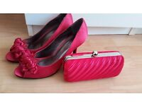 Matching shoes and bag - pink
