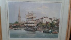 Frank Shipsides Limited Print Bristol Moorings