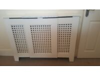 One white wooden radiator cover, collection only