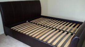 Super King Faux Leather Bed