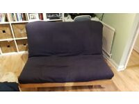 FREE comfy sofa (with throw), futon & coffee table - good used condition. Collection only asap