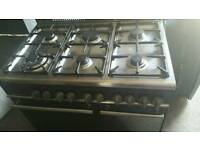 6 ring dual fuel range for sale