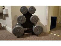 Weights - set of three dumbbells