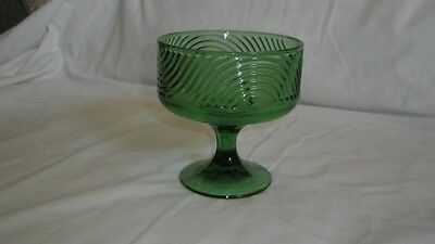 Vintage E.O. Brody Co. Green Glass Dish, Cleveland Ohio, Rare!