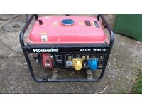 PETROL GENERATOR SUITABLE FOR SITE WORK, CAMPING ETC... ORDER 110V & 240v VOLTAGE REGULATOR