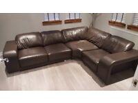 Big Corner Leather Sofa