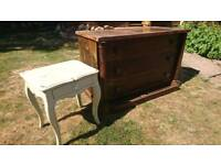 Restoration wood drawers and side table