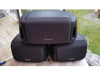 Set of three Aiwa speakers