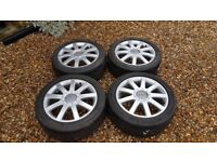 Genuine 17inch Audi RS4 alloy wheels 9 spoke A3, A4, A6