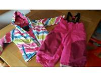 Girls ski jacket and trousers
