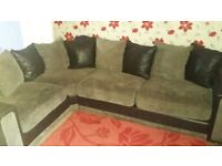black and grey corner settee