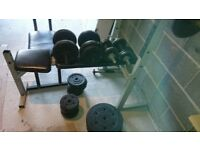 2 Bench and 90 kg Weight. Two Long bar and Four short. Good condiction.