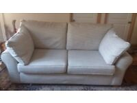 Oatmeal weave sofa for sale 1 yr old from M & S. £100 ono. Collect from Shepton Mallet
