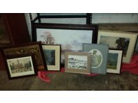 Framed Pictures x 8