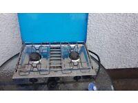 Gas burner double