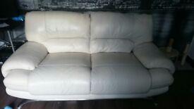 Italian Sofa Set/2 Units, Light Cream Almost New, Need to Go Fast!