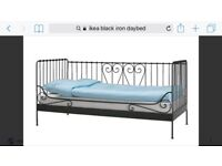 Ikea black iron day bed
