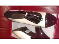 Black and white ladies shoes