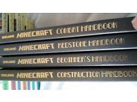 4 Minecraft books good condition