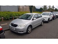 TOYOTA COROLLA 1.6 T3 5 DOOR SILVER 2002 51 REG MANUAL