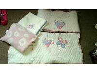 Cot bumper , and bedding set.