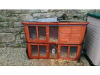 Bluebell hutch, cover and 2 X rabbits for sale