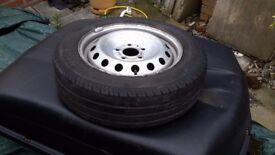 3 off wheels with tyres to fit vivaro van