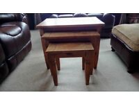 Mexican pine set of 3 coffee tables