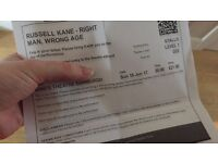2 tickets to Russell Kane TONIGHT at the Kings Theatre