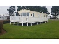Static caravan for sale with decking!