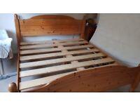 Superking size (6ft) solid pine bed frame