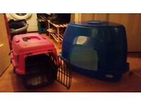 Cat carrier and hooded litter tray