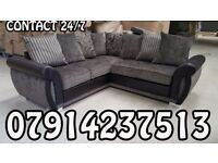Brand New Black & Grey Or Brown/Beige Helix Sofa Available 4675
