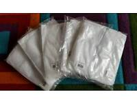 5x white disposable coveralls Size:XL