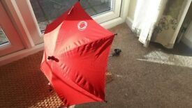 Bugaboo red sun unbrella