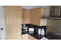 Fully fitted Kitchen & Utility room with work tops, double oven, hob & Hood