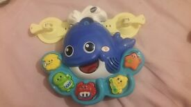 Whale bath time toy