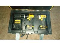Dewalt hammer drill and impact driver