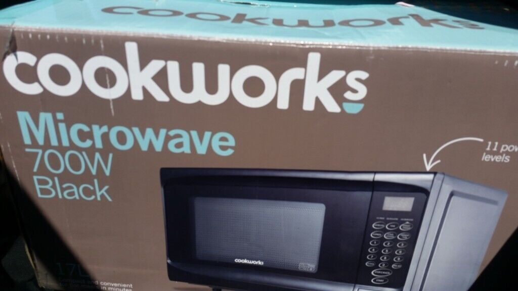 Microwave Oven Black Cookworks From Argos Almost New Still Boxed In South Croydon London Gumtree