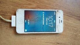 iPhone 4 8GB - Fully working - broken screen