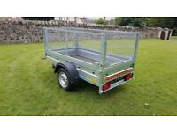 NEW trailer with mesh 6 x 4 x 3,12 BEST PRICE £720 inc vat