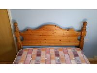 SOLID PINE DOUBLE BED INCLUDING MATTRESS