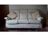 Cintique Richmond 3 seater sofa, armchair and footstool.